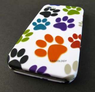 COLORFUL PUPPY DOG PAWS HARD SHELL CASE COVER APPLE IPHONE 4 4s PHONE
