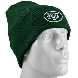Reebok New York Jets Green Basic Knit Beanie Cap Sports