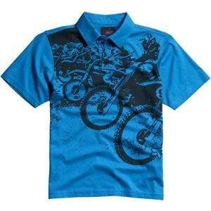 Fox Racing Youth Podium Polo Shirt   X Large/Turquoise
