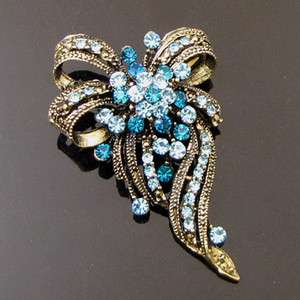 ADDL Item  1 pc antiqued rhinestone crystal flower