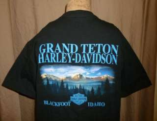 HARLEY DAVIDSON T Shirt BLACKFOOT GRAND TETONS Vtg NEW Motorcycle