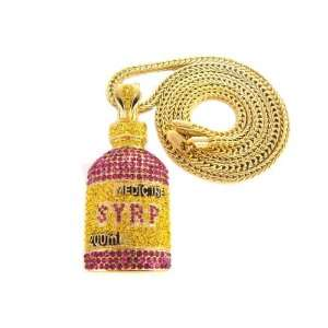 Lil Wayne Iced Out Pendant Necklace Gold 2 Franco Style Style Chain