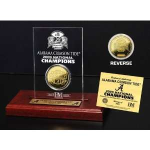 Alabama Crimson Tide 24KT Gold Coin 2009 BCS Champion