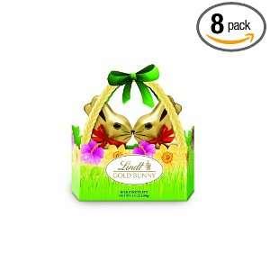 Lindt Lindor Gold Bunny Basket, 3.5 Ounce (Pack of 8)