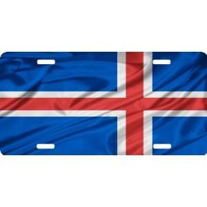 Rikki KnightTM Iceland Flag Cool Novelty License Plate
