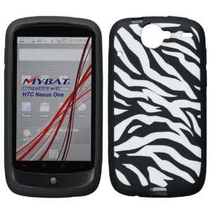 HTC GOOGLE NEXUS ONE BLACK AND WHITE ZEBRA PRINT DESIGN SILICONE SKIN
