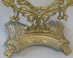 Art Nouveau Cast Gilt Metal Picture or Mirror Frame c. 1920