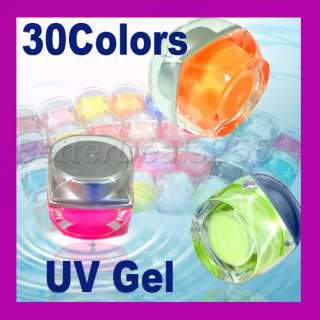 30 x Mix Colors Translucent Glitter UV Builder Nail Art
