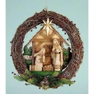 Holy Family Nativity Grapevine Christmas Wreath #39906