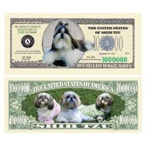 Shih Tzu Million Dollar Bill Case Pack 100 Toys & Games