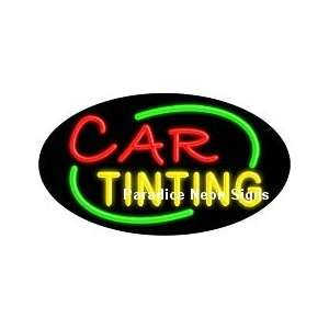Flashing Car Painting Neon Sign (Oval) Sports & Outdoors