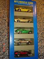 1995 Hot Wheels 60s Muscle Cars 5 Car Gift Pack