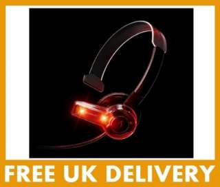 Xbox 360 Afterglow Communicator Mic Headset Red LED PDP Xbox Live