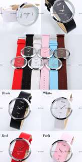 Multicolors Transparent Dial Lady Women Mens Fashion Quartz Sport