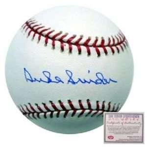 Duke Snider Brooklyn Dodgers Hand Signed Rawlings MLB Baseball