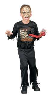 HEARTLESS ZOMBIE CHILD HALLOWEEN COSTUME PARTY UNDEAD LIGHT UP HEART