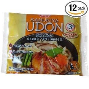 Shirakiku Udon Nama Chicken No MSG, 7.05 Ounce (Pack of 12)