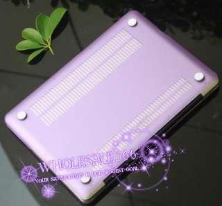 For New Apple Macbook PRO 13 Purple Rubberized Hard Case keyboard