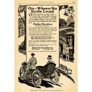 1918 Ad Harley Davidson Motor Milwaukee Motorcycle Car
