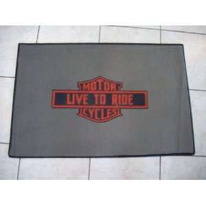 Harley Davidson Motor Cycles Live To Ride Mat Rug NEW