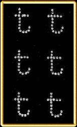 Rhinestones Alphabet Motif 6 Small Letter t HotFix 309