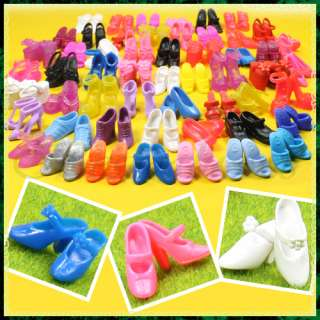 Christmas Gift 60 Pairs Special Various Mixed Styles Shoes For Barbie