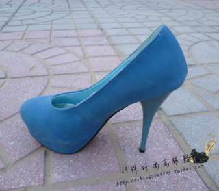 New Classic Faux Suede Womens Platforms New Chunky High Heels Shoes