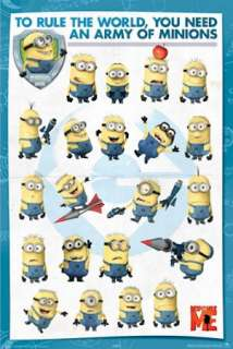 CARTOON POSTER ~ DESPICABLE ME ARMY RULE MINIONS MOVIE
