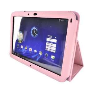 Premium Leather Stand Case Cover w Magnetic Closure For Motorola Xoom