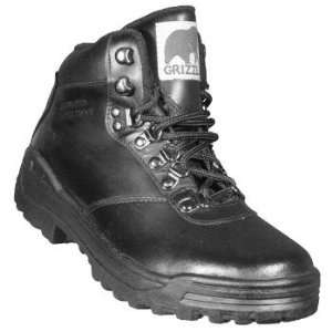 Mens Grizzly Black Leather Hiker Boot Case Pack 12