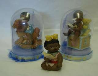American Black Baby Boy Girl Rocking Horse Block Shower Decor