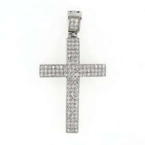 Mens Iced Out Hip Hop White Gold Plated Cubic Zircoina