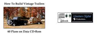 How To Build Vintage Travel Trailers Teardrop Popup Camper Utility Etc