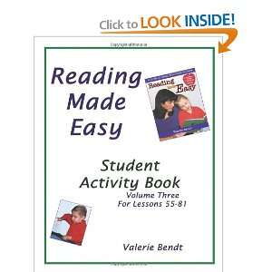 workbook for Reading Made Easy (9781882514731) Valerie Bendt Books
