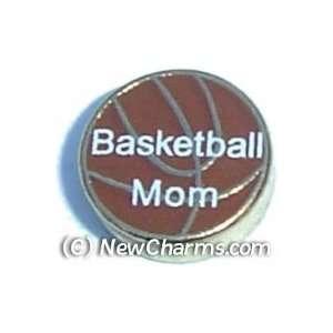 Basketball Mom Floating Locket Charm Jewelry