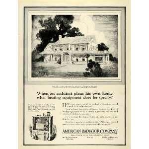 1922 Ad American Radiator Home H. E Paddon New York Heater Heating