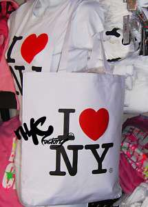 LOVE NY TOTE SHOULDER BAG SHOPPING BLACK WHITE PINK
