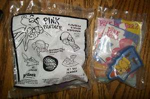 Hardees & Burger King Pink Panther toy lot NEW