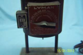 Lyman model 61 bullet mold furnace to melt your lead for reloading