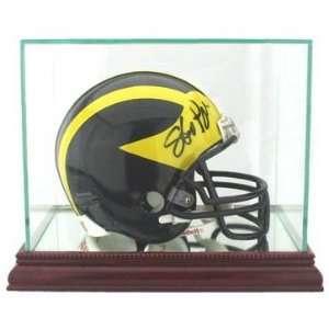 Mini Football Helmet Display Case 8x5x6