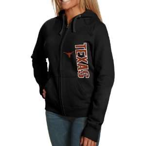 Champion Texas Longhorns Black Athletic Logo Full Zip Hoody Jacket