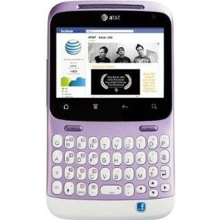 HTC ChaCha A810E Unlocked WHITE / PURPLE GSM QuadBand Cellular Phone