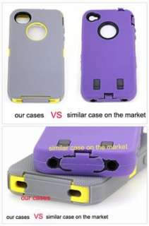 DEFENDER iPhone 4 4S Heavy Duty Tough Colourful Case Cover mbs