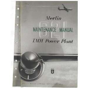 Rolls Royce Merlin 621 Aircraft Engine Maintenance Manual
