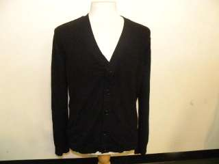 INHABIT mens black cashmere cardigan top.Long sleeves with v neck and