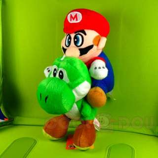 Super Mario Brothers Yoshi+Mario Plush Doll Figure Toy