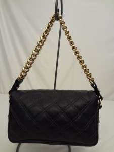 MARC JACOBS Black Quilted Leather HAND BAG Purse Gold Chain EXCELLENT