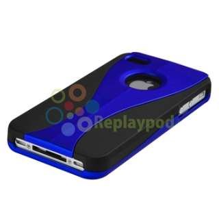 PIECE Hard Case+Car+AC Charger+PRIVACY FILTER for iPhone 4 4S G