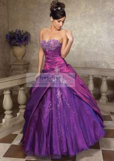 Stock Strapless Wedding Dress Bridesmaid Evening Dresses Ball Gown