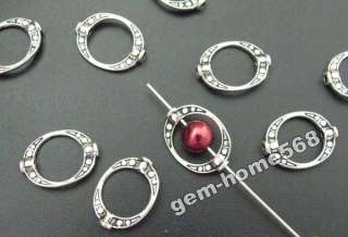 100 Tibetan Silver Crafted Oval Bead Frame B865